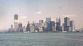 De oude horizon van New York stock videobeelden