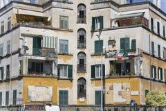 De oude hotelbouw in Rome Stock Afbeelding