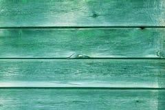De oude houten achtergrond van de plank groene textuur Stock Foto