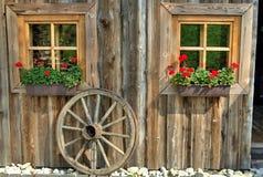 De oude houten bouw Stock Fotografie