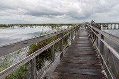 De oude houten brug Royalty-vrije Stock Afbeelding