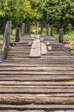 De oude houten brug  Royalty-vrije Stock Foto's