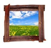 De oude houten frames Lente Royalty-vrije Stock Afbeeldingen