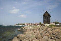 De oude houten molen Royalty-vrije Stock Foto