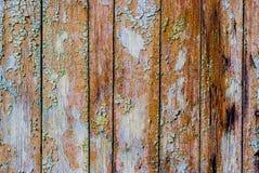 De oude houten planken schilderden sjofel Royalty-vrije Stock Fotografie