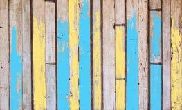 De oude houten raad is abstracte achtergronden De achtergrond is Groen witte bruine houten het ontwerpstijl van het toonmeubilair Stock Foto