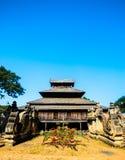 De oude houten tempel in Bagan, Myanmar Stock Foto's