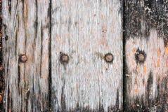 Het oude hout op de oude vrachtwagenvloer Royalty-vrije Stock Foto
