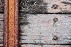 Het oude hout op de vloer van de olevrachtwagen Stock Foto
