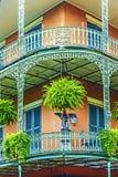 De oude huizen van New Orleans in het Frans Stock Fotografie
