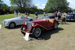 De oude iconische Britse sportwagen van mg tc Royalty-vrije Stock Foto