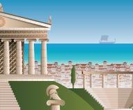 De oude illustratie van Athene stock illustratie