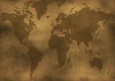 De oude illustratie van de wereldkaart Stock Afbeelding