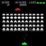 De oude illustratie van het computerspel royalty-vrije illustratie