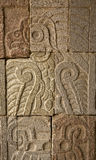De Oude Indische Ruïnes Teotihuacan Mexico van de muur Stock Fotografie