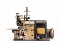 De oude Industriële Naaimachine Front View van Overlock Stock Foto