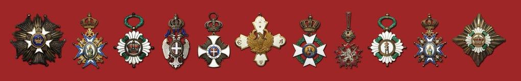 De oude Inzameling van de Medaille Stock Foto's