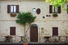 De oude Italiaanse bouw Royalty-vrije Stock Foto's