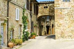 De oude Italiaanse stad van Murlo Royalty-vrije Stock Foto