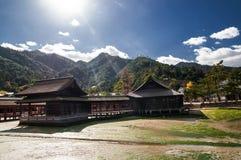 De oude Japanse gebouwen Royalty-vrije Stock Afbeeldingen