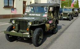 De oude Jeep van parlementslid drie Royalty-vrije Stock Afbeeldingen