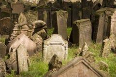 De oude Joodse Begraafplaats van Praag Stock Afbeeldingen