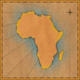 De oude Kaart van Afrika Stock Afbeelding
