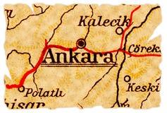 De oude kaart van Ankara royalty-vrije stock foto