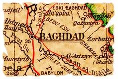De oude kaart van Bagdad stock afbeeldingen