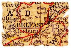 De oude kaart van Belfast royalty-vrije stock fotografie