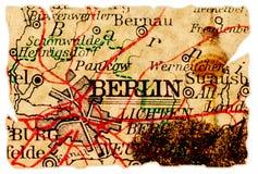 De oude kaart van Berlijn royalty-vrije stock afbeeldingen