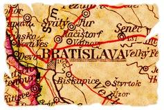 De oude kaart van Bratislava Royalty-vrije Stock Afbeeldingen
