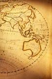 De oude Kaart van de Wereld Stock Foto's