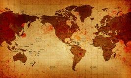 De oude Kaart van de Wereld vector illustratie