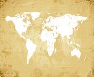De oude Kaart van de Wereld grunge Stock Foto's