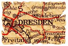 De oude kaart van Dresden royalty-vrije stock foto's