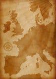De oude kaart van Europa Stock Fotografie