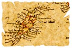 De oude kaart van het Eiland Man royalty-vrije stock foto's