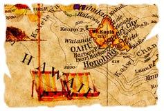 De oude kaart van Honolulu Royalty-vrije Stock Foto's
