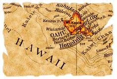 De oude kaart van Honolulu stock foto