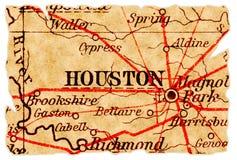 De oude kaart van Houston stock foto