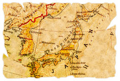 De oude kaart van Japan royalty-vrije stock foto's