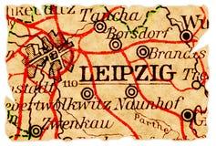 De oude kaart van Leipzig royalty-vrije stock afbeeldingen