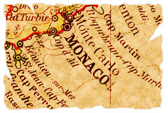 De oude kaart van Monaco Stock Foto