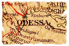 De oude kaart van Odessa royalty-vrije stock afbeelding