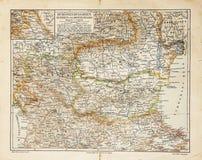 De oude kaart van Oost-Europa Stock Afbeeldingen