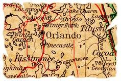 De oude kaart van Orlando stock foto