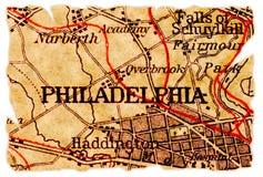 De oude kaart van Philadelphia royalty-vrije stock afbeeldingen