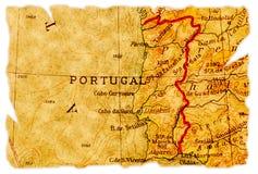 De oude kaart van Portugal royalty-vrije stock foto