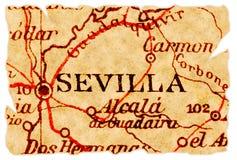 De oude kaart van Sevilla stock fotografie